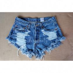 High waisted denim shorts...