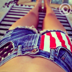 High waisted American flag...