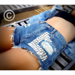 Levis  high waisted studded...