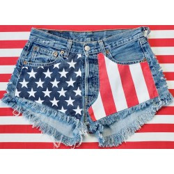 American Flag ripped Levis...