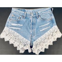 Vintage white lace jeans...