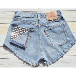Studded shorts Levis - high...