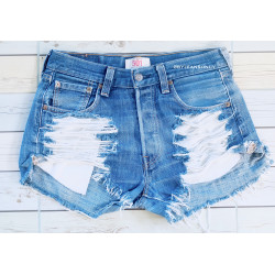 High waisted denim shorts...