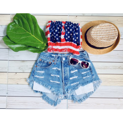 vintage denim - ripped and...