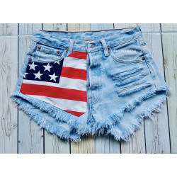 High waisted American Flag...