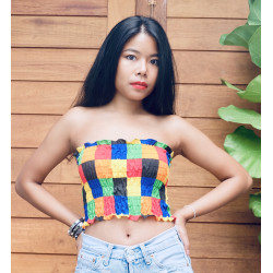 Cute rainbow crop top