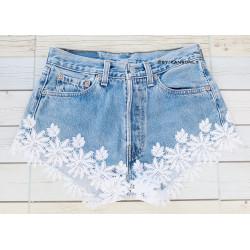Vintage Levis white  lace...