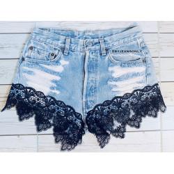 Vintage Levis black lace...